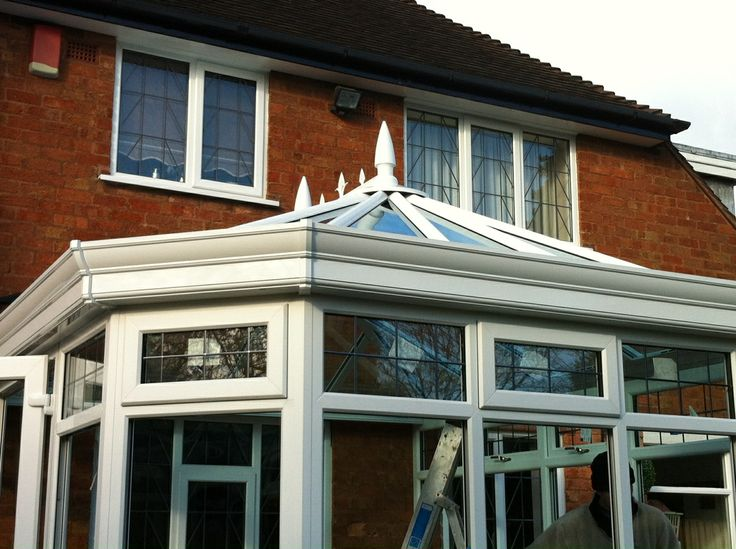Outside view of conservatory - Working hard in building to perfection. http://www.finesse-windows.co.uk/orangeries.php