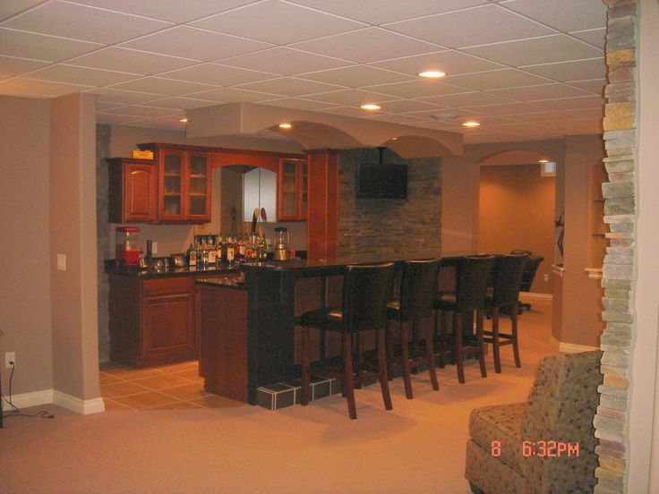 Finished Basement Bar | Construction, Inc.