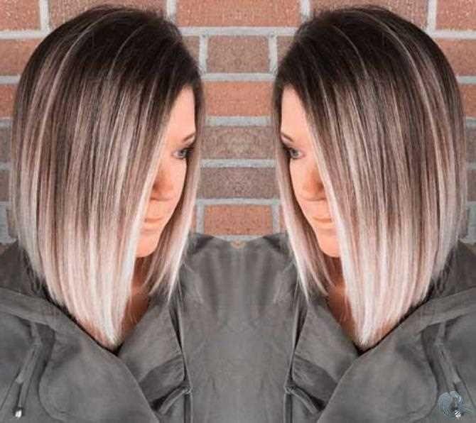 Ombre Farbe Bob Frisuren 2019 Bob Farbe Frisuren Longbob Ombre Haarschnitt Bob Bob Frisur Haarschnitt