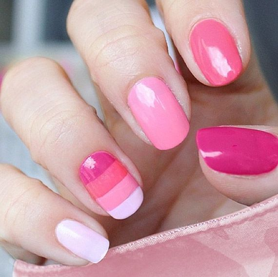 142 Best Images About Pink Nail Designs On Pinterest