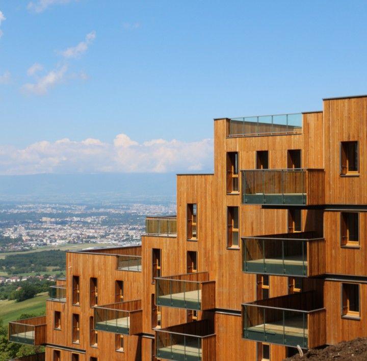 Mélicem - Réalisation #Ardissa #Immobilier à #Lucinges #Haute-Savoie #architecture #bois Architecte : Atelier R.Plottier