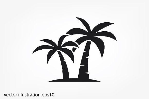 Palm Tree Icon Palm Tree Drawing Tree Icon Palm Tree Icon