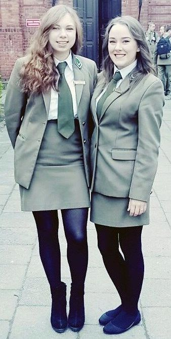 Students Dressed In Formal Uniforms