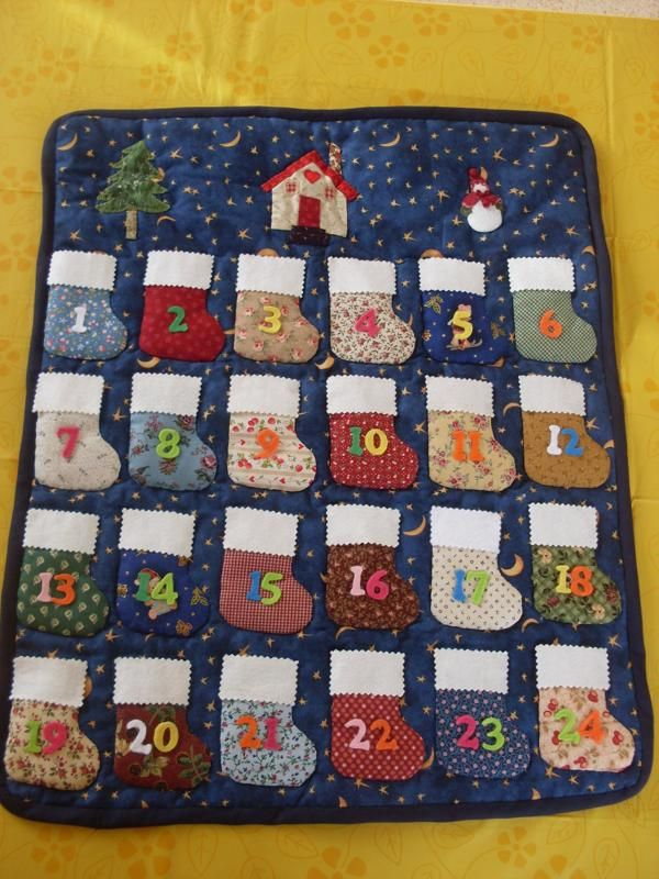 Calendarios de adviento de patchwork chair