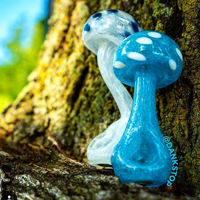 These #GlowInTheDark #Mushroom #Pipes are sure to take you down the rabbit hole…