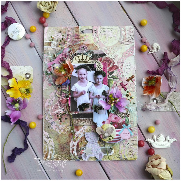 big tag about cute little girl on Prima marketing packing Details: https://anastasiaelenadesign.blogspot.ru/2017/06/dear-elsy.html