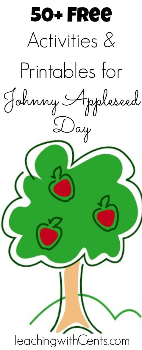 Free Activities and Printables for Johnny Appleseed Day                                                                                                                                                     More