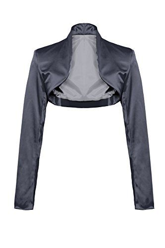 Elegant Satin Long Sleeve Bolero Jacket 34 36 38 40 42 44 in Various Colours -  Grey - 14 GIOVANI & RICCHI http://www.amazon.co.uk/dp/B00S6RUV30/ref=cm_sw_r_pi_dp_KKCbwb1X1Z5V1