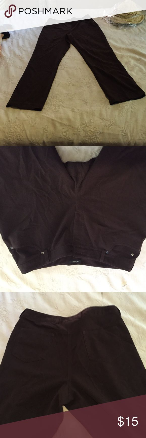 EUC Chocolate Brown Slacks by Rafaella, 16 Excellent used condition chocolate brown pants by Rafaella. Straight leg. Size 16. Rafaella Pants Trousers