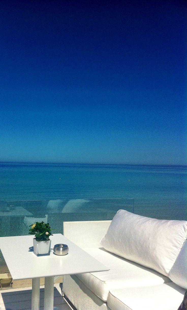My perfect balcony at the deck of Bousoulas beach bar, Sani Resort, Halkidiki, Greece