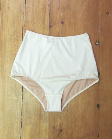HOLLYWOOD Cream high waisted bikini bottoms