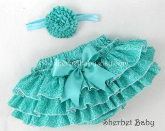 Triple Ribbon Rose Headband Sassy Pants Ruffle by SherbetBaby