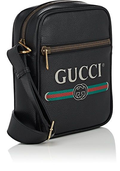 5744c83e1 Gucci | Leather Messenger Bag | $1,590 | Gucci's camera-style messenger bag  is crafted