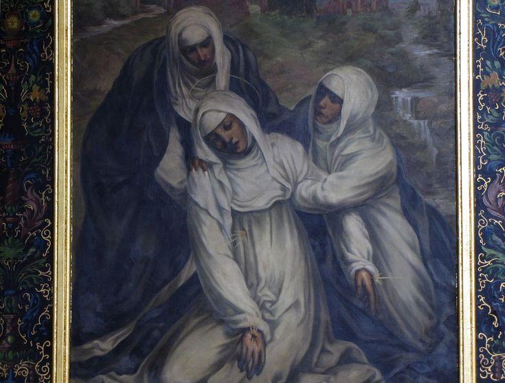 St Catherine fainting from the stigmata by Il Sodoma, Church of Saint Pantaleon, Alsace, France