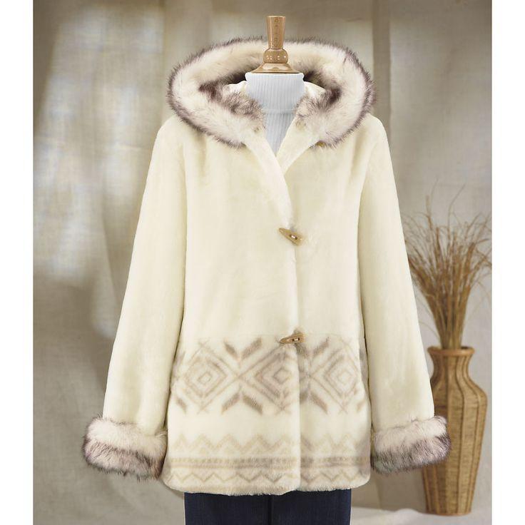 Plush Faux Fur Coat