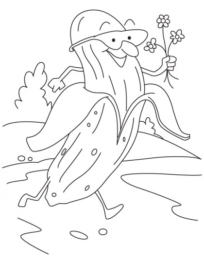 Banana Offering Flower Coloring Pages