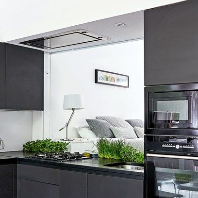 The 45 best images about small spaces on pinterest flats for Small fitted kitchens