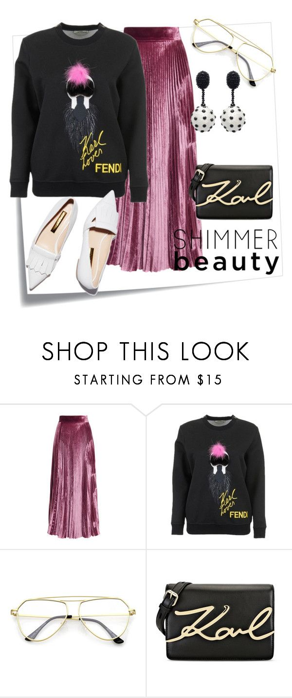 """""""Untitled #30"""" by mke-fashion ❤ liked on Polyvore featuring Post-It, LUISA BECCARIA, Fendi, Rupert Sanderson, Karl Lagerfeld and Oscar de la Renta"""