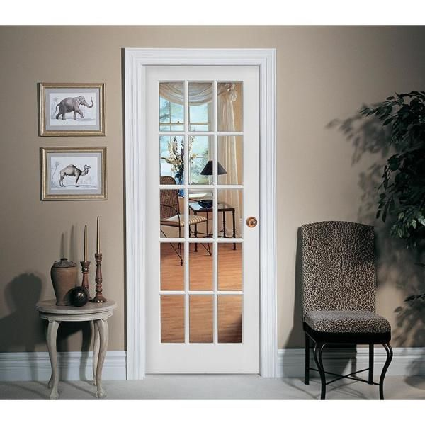 Mmi Door 32 In X 80 In Right Handed Primed Composite Clear Glass 15 Lite True Divided Single Prehung Interior Door Z009306r The Home Depot In 2020 Prehung Interior Doors Doors Interior Glass Doors Interior