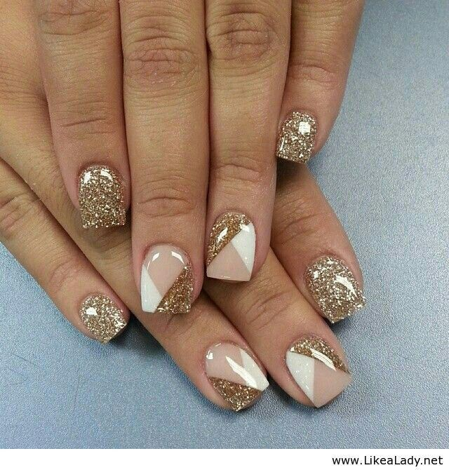 neutral glitter geometric