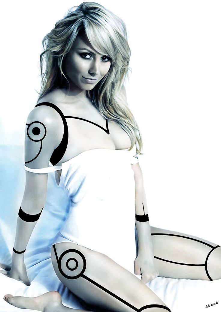 hot sexy futuristic cyber girl naked