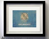 Oklahoma Flag Print