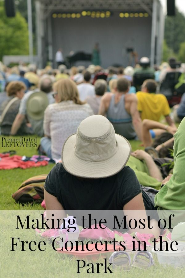 Making the Most of Free Concerts in the Park - Free concerts are a great frugal summer activity. Here are some tips to make it an even better experience.