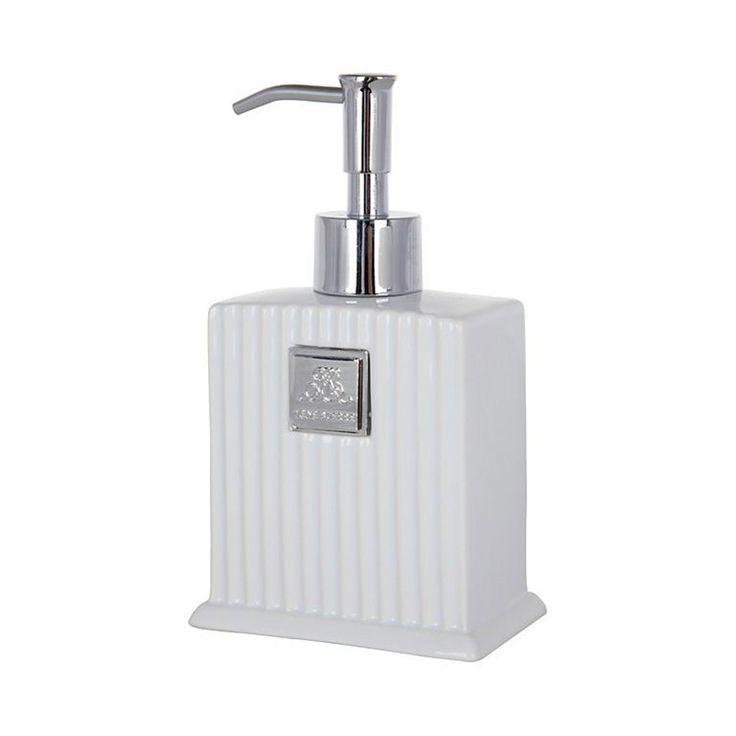 Monogram Stripe, Dispenser, Lene Bjerre #design #royaldesign #decor #inredning #homedecor #interiordesign #lenebjerre #bathroom