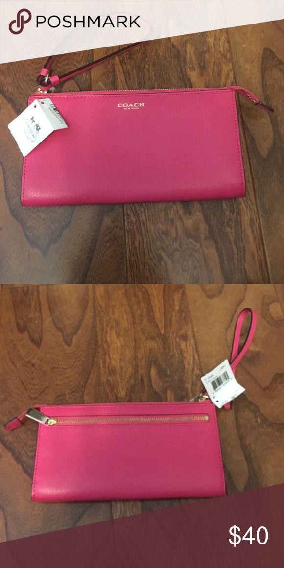 Coach Wristlet Hot pink brand new Coach Bags Clutches & Wristlets