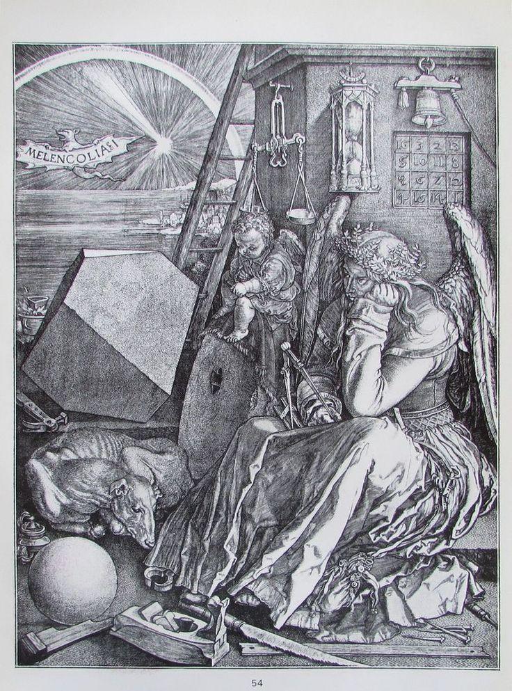 ALBRECHT DÜRER Melancholie und Heilige Familie 2 Reproduktionen Kunstdrucke