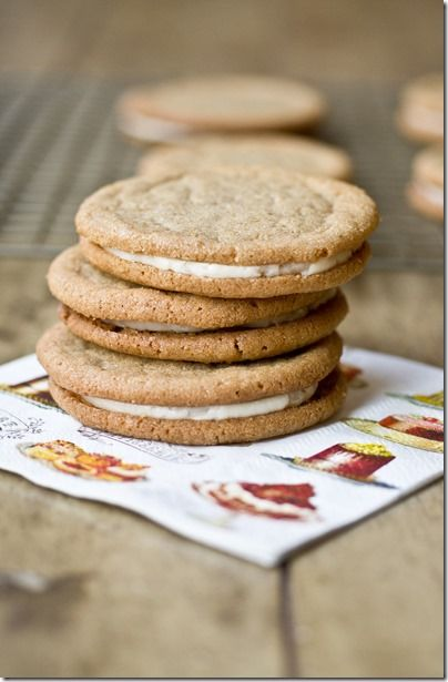 Cookie Butter & Salted Caramel Cookie Sandwiches - the cookies are delicious on their own but the buttercream filling puts them over the top...