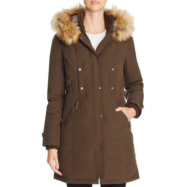 Vince Camuto Active Long Puffer Coat ($360) ❤ liked on Polyvore featuring outerwear, coats, olive, olive green puffer coat, long puffer coats, long puffy coat, puffy coat and army green coat