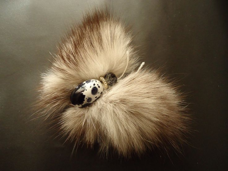 Buy Elegant butterfly from polar fox fur in a big way wings 13x10.0 cm