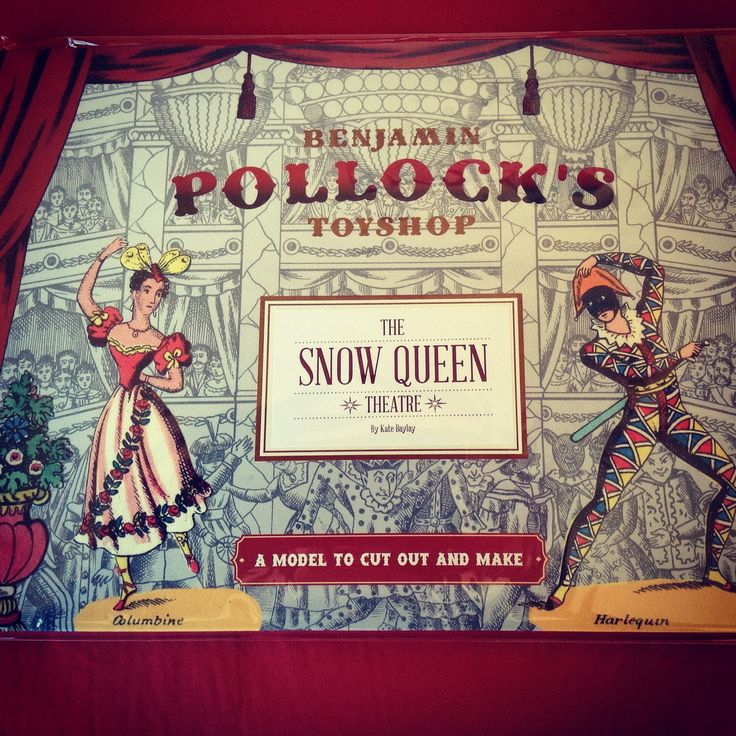 Pollock's Theatre to cut out and make Contemporary - The Snow Queen by Kate Baylay