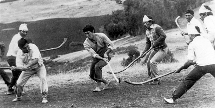 El palin es un encuentro social que el pueblo mapuche practica desde hace siglos para fortalecer las relaciones políticas, espirituales y culturales entre las comunidades (lof) y sus autoridades (longko). En él se comparte el juego, los alimentos y la conversación. La palabra proviene de la bola con que se practica. En mapudungun, pali es todo objeto redondo que crece en forma natural en los árboles, o que se elabora manualmente. Palin es entonces el acto de jugar con el pali.