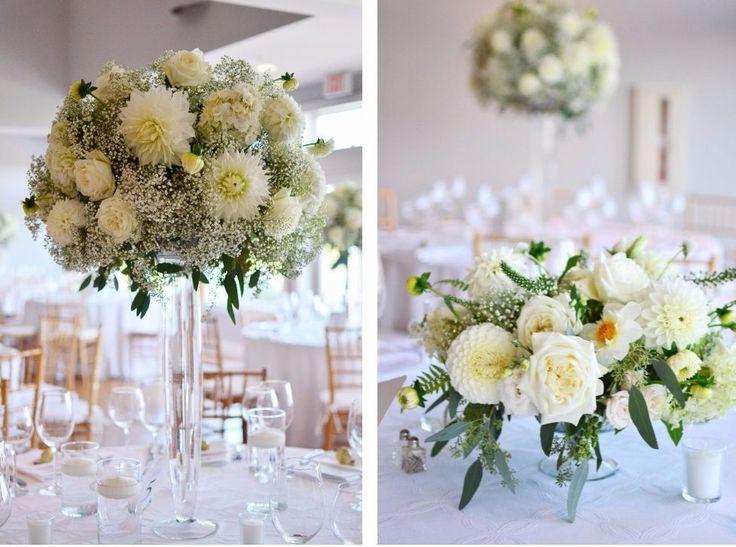 #秋 #ウェディング #結婚式 #テーブル装花 #ダリア #かすみ草