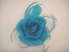 Single Silk Rose - Turquoise