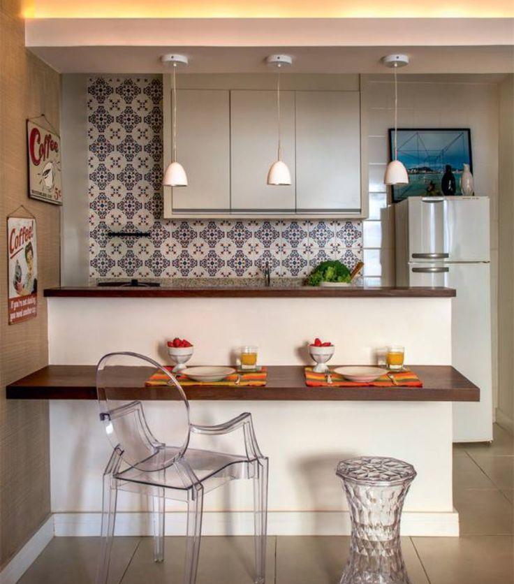 Balco de refeio  cozinha americana  Decorao cozinha
