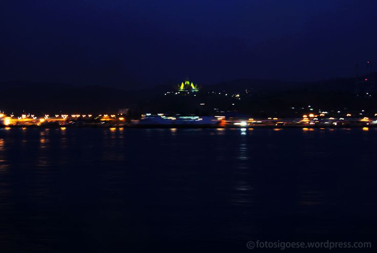 The yellow light in the middle of picture is tower of Siger, the new icon of Lampung province. It is located on the hills (110 meters above sea level) not so far from the port of Bakauheni. This pi...