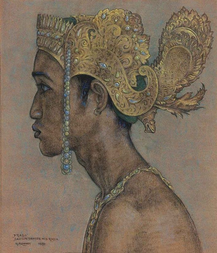 Rudolf Bonnet -Dutch Painter, Bali 1895-1978 Danseur Balinais, 1970