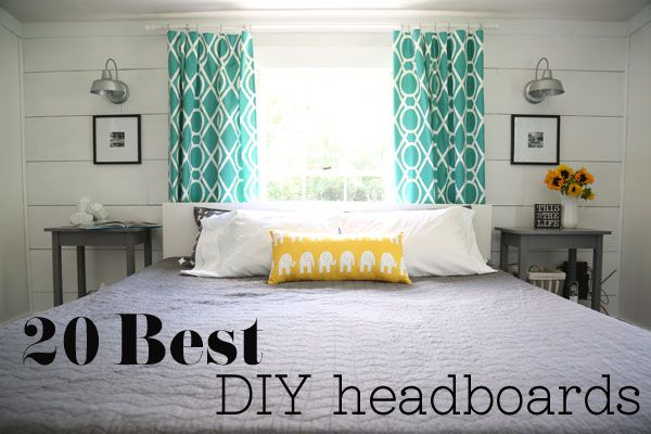 Best DIY Headboards @Macie Six Six Khan - solution for your new room?? window at head of bed... fun drapes (check target!!) and small headboard...