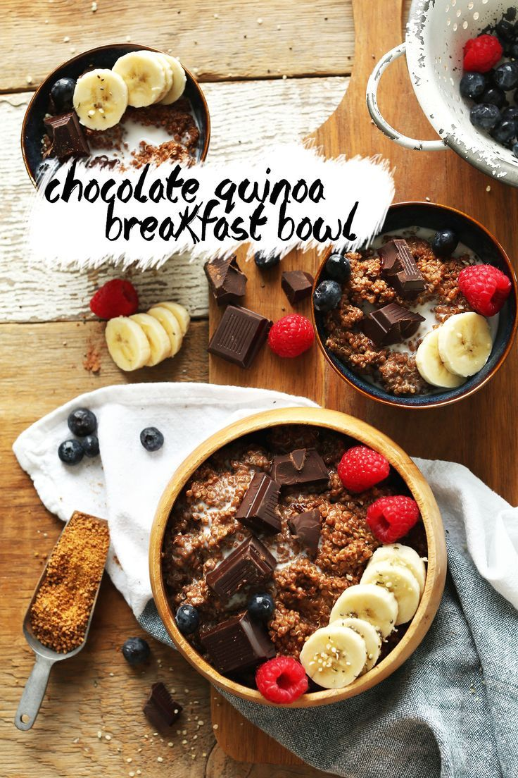 Chocolate Quinoa Breakfast Bowl | Minimalist Baker