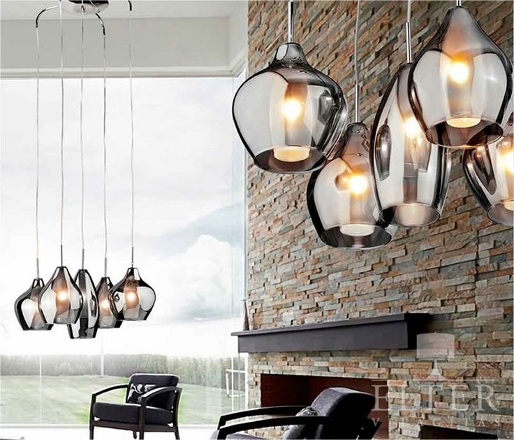 Glass five light cluster pendant ideal for high ceilings hallways or atriums