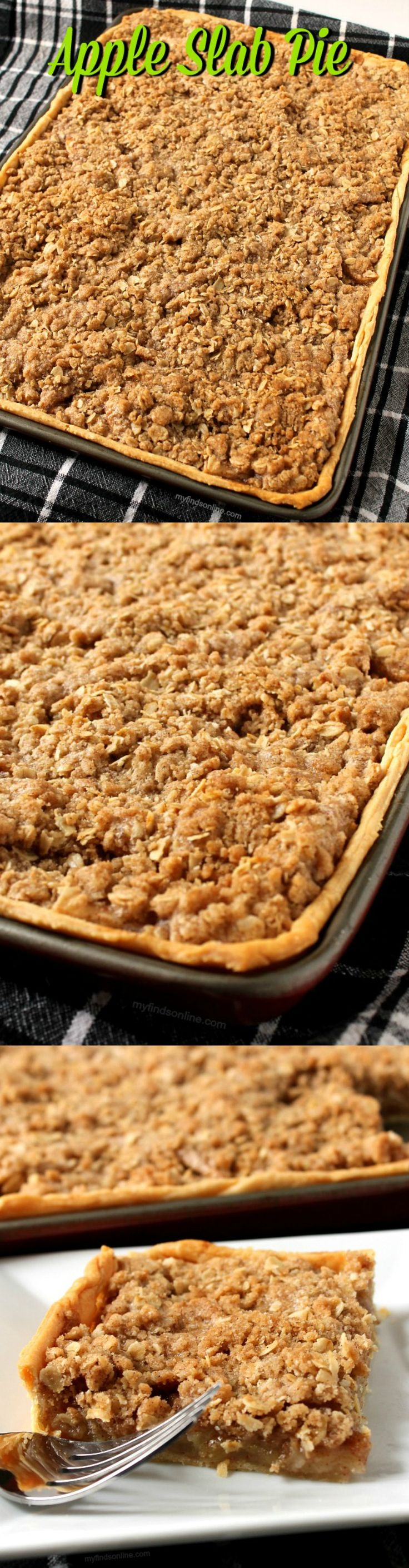 Apple Slab Pie With Cinnamon Streusel Topping / myfindsonline.com
