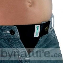 Maternity Belly Belt that attaches to your pants. This is such a good idea, if it actually works... you wouldn't have to get all new clothes.