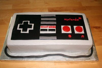 AWESOME IDEA for a video game birthday party cake! :D