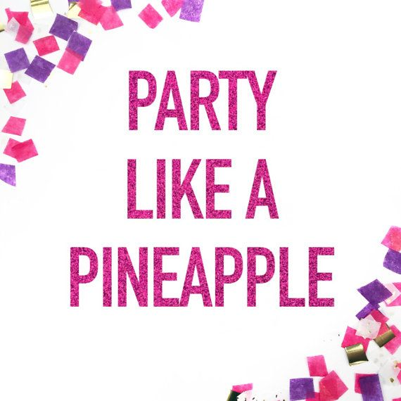 This Party Like A Pineapple glitter banner will make sure that everyone knows its time to party! It makes a fun addition to any pineapple party decor, pineapple birthday party, summer party decor, luau party supplies or tropical party decorations! L I S T I N G + I N C L U D E S =========================== One (1) glitter Party Like A Pineapple banner in your choice of color  → Glitter letters come unstrung with metallic twine, so you may string and space them as you like!  M E A S U R E M…