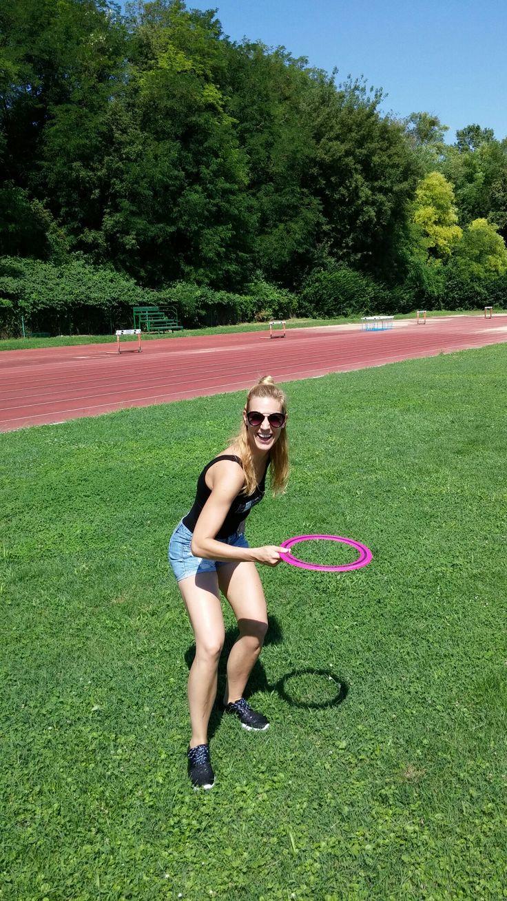 Active Sunday...playing frisbee!