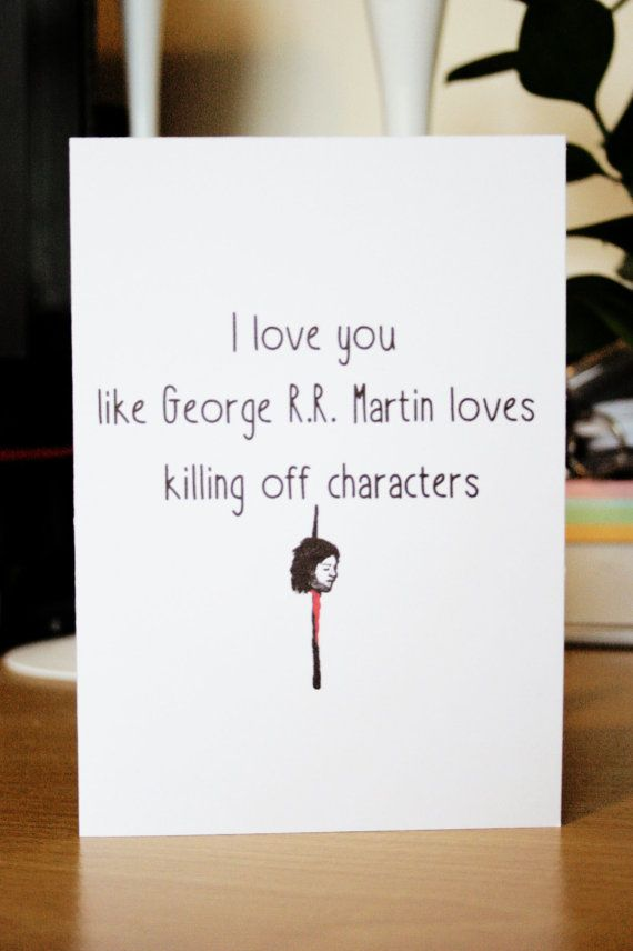 Funny Game of Thrones Valentines Day Card by SheMakesSheBakes