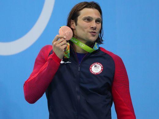 Cody Miller claimed bronze in the men's 100-meter breaststroke.